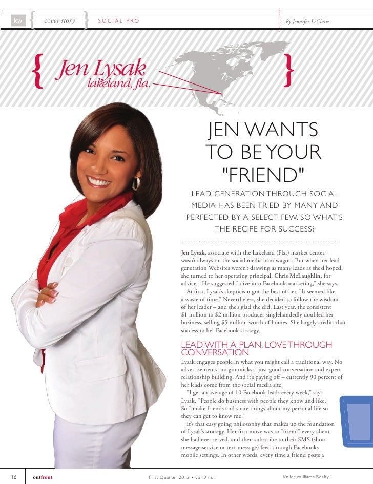 kw       cover story   SOCIAL PRO                                                              By Jennifer LeClaire       ...
