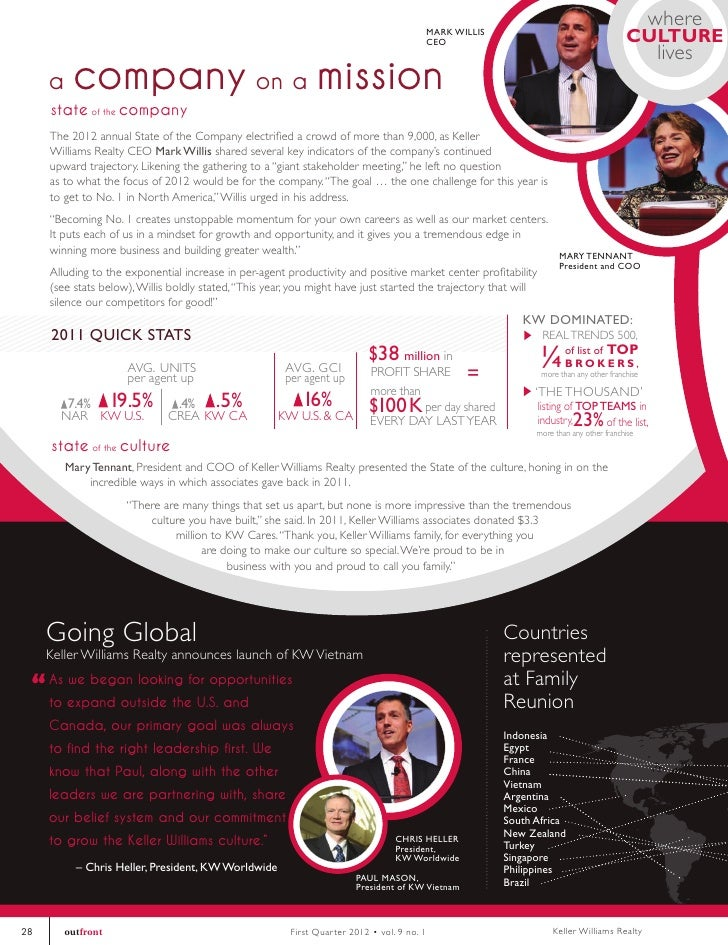 KW Outfront Magazine - Online Edition   1st Quarter 2012
