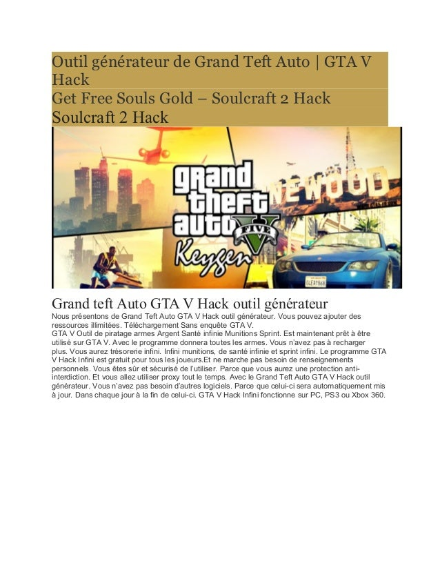Outil générateur de Grand Teft Auto | GTA V  Hack  Get Free Souls Gold – Soulcraft 2 Hack  Soulcraft 2 Hack  Grand teft Au...