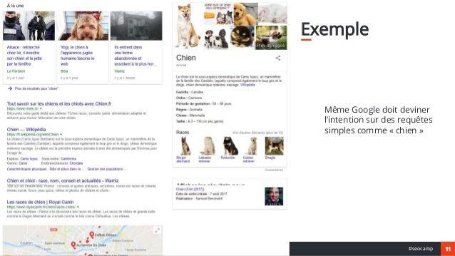 11#seocamp Exemple Même Google doit deviner l'intention sur des requêtes simples comme « chien »