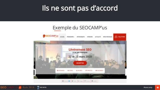 15#seocamp Ils ne sont pas d'accord Exemple du SEOCAMP'us