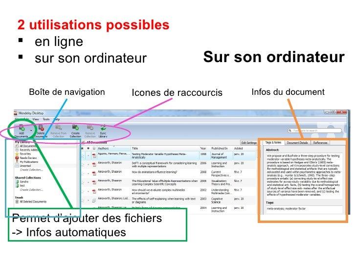<ul><li>2 utilisations possibles  </li></ul><ul><li>en ligne </li></ul><ul><li>sur son ordinateur </li></ul>Sur son ordina...
