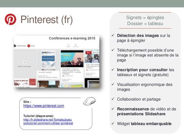 Pinterest (fr) Site : https://www.pinterest.com  Détection des images sur la page à épingler  Téléchargement possible d'...