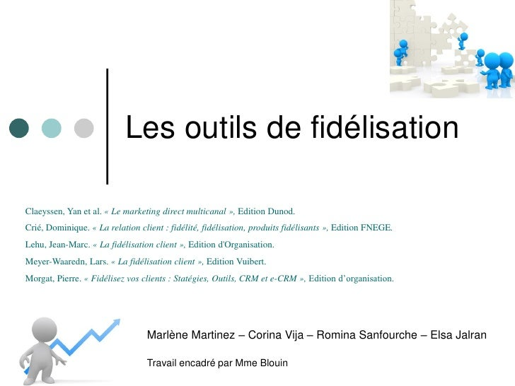 Les outils de fidélisationClaeyssen, Yan et al. « Le marketing direct multicanal », Edition Dunod.Crié, Dominique. « La re...