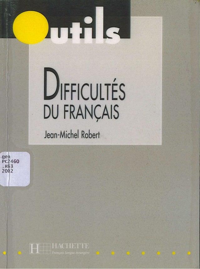 Outils difficultés du français par [www.livrebank.com]