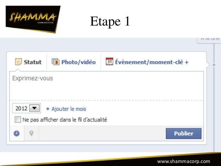 Etape 1          www.shammacorp.com