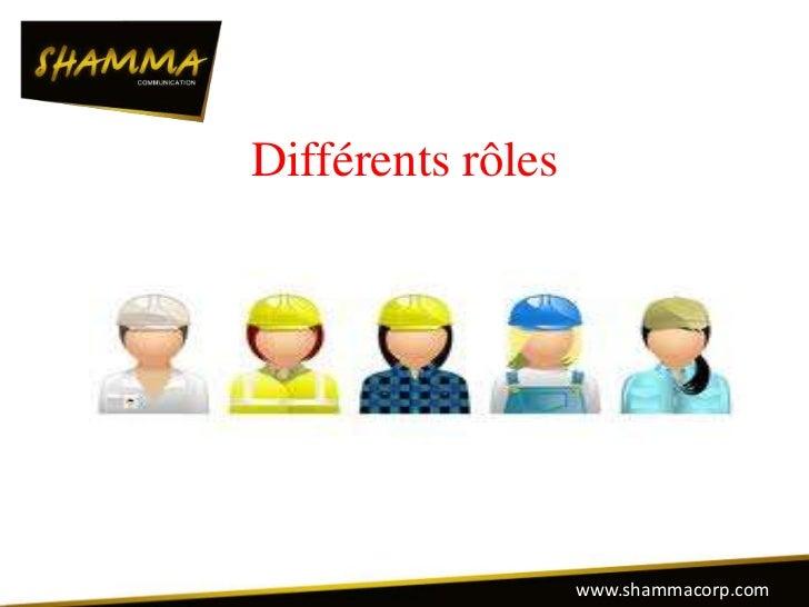 Différents rôles                   www.shammacorp.com