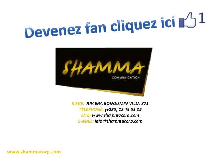SIEGE: RIVIERA BONOUMIN VILLA 871                        TELEPHONE: (+225) 22 49 55 25                          SITE: www....