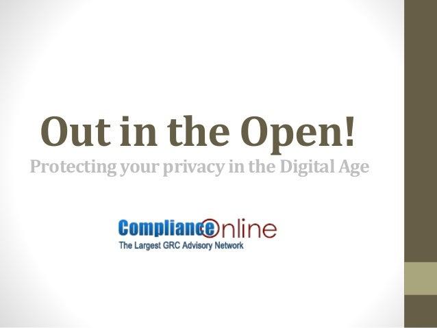 Privacy vs. digital age: Where's the balance?