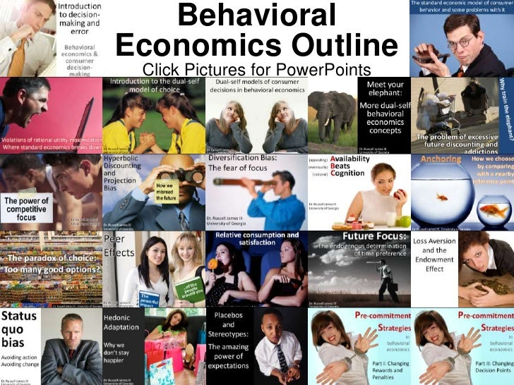Behavioral Economics Outline<br />Click Pictures for PowerPoints<br />