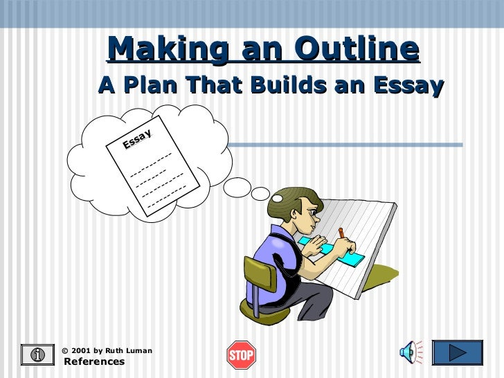 Making an Outline       A Plan That Builds an Essay                   y                sa             Es                  ...
