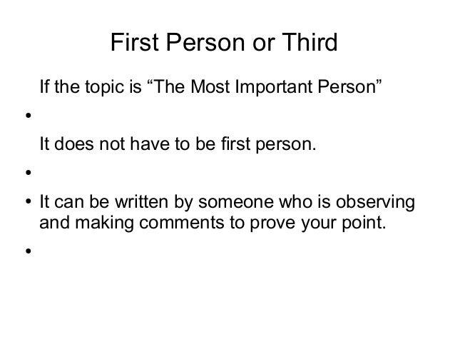 Significant person essay