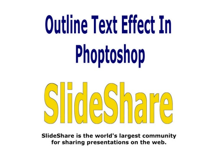 Outline Text Effect in Photoshop