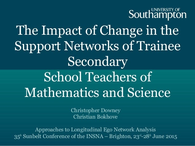 The Impact of Change in the Support Networks of Trainee Secondary School Teachers of Mathematics and Science Christopher D...