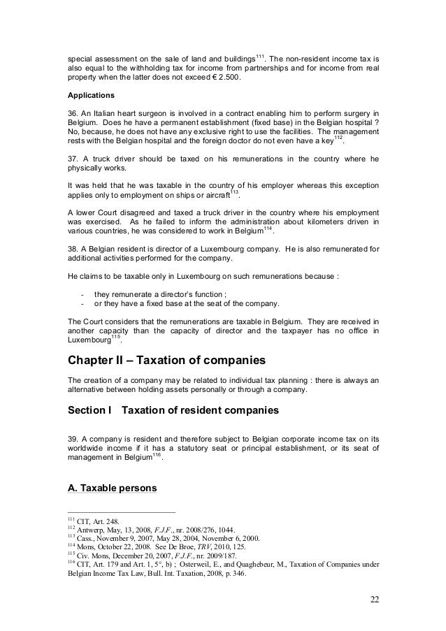 Outline belgian tax law 2014 28.03.14