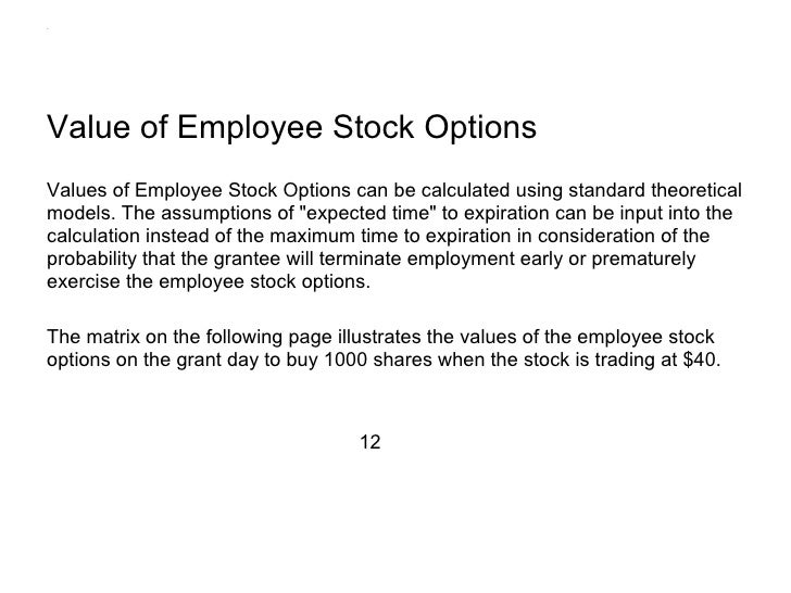 Palantir employee stock options