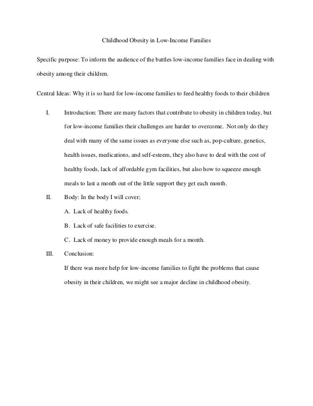 obesity essay outline co outline of childhood obesity in low
