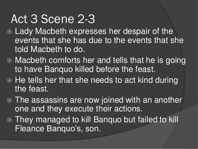 essay questions for macbeth act 3 Home → sparknotes → shakespeare study guides → macbeth → study questions of macduff in act 4, scene 3 macbeth's words when he questions the.