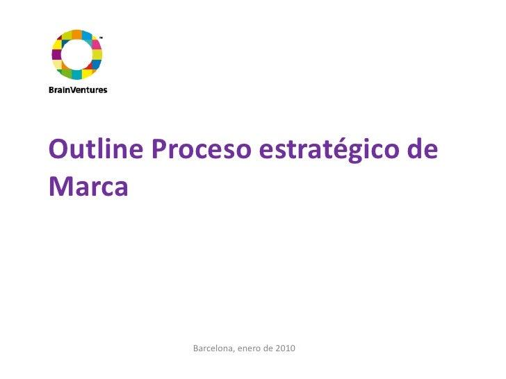 Outline Proceso estratégico de Marca                Barcelona, enero de 2010