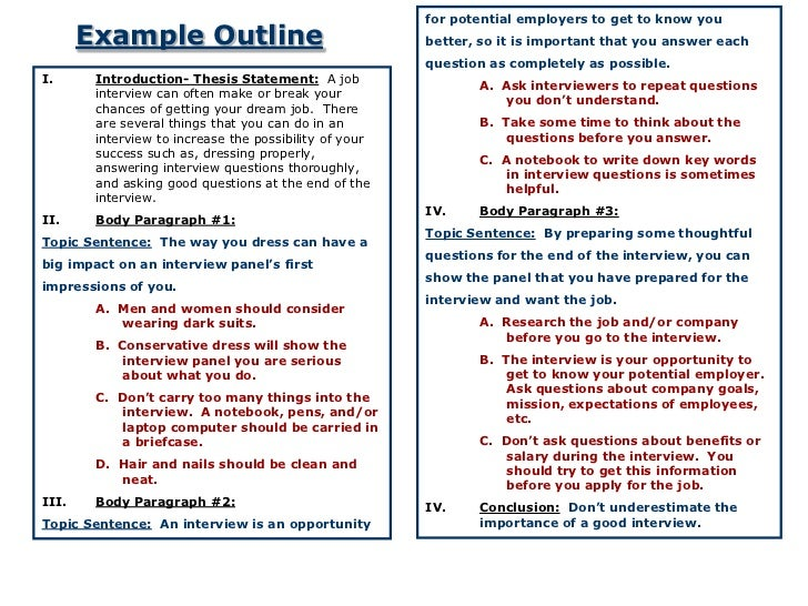 11 For Potential Employers To Get Know You Example Outline