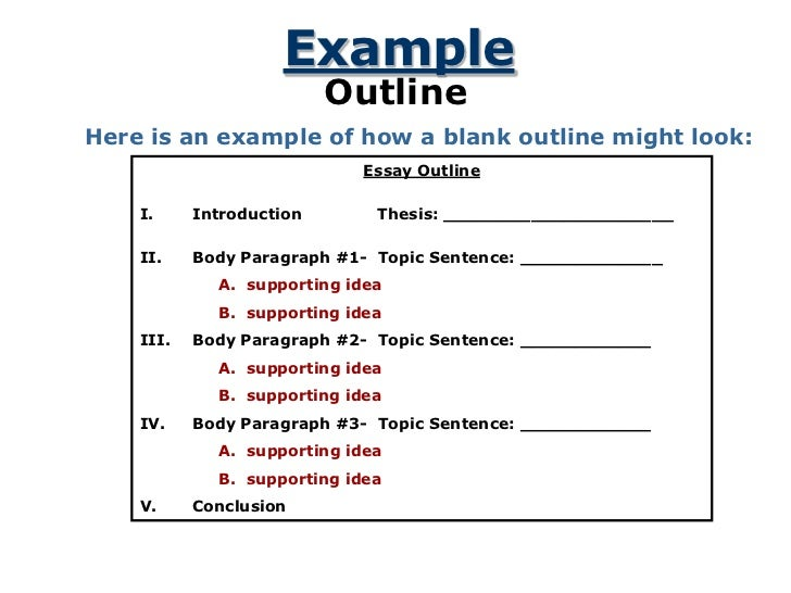 five paragraph essay sample example