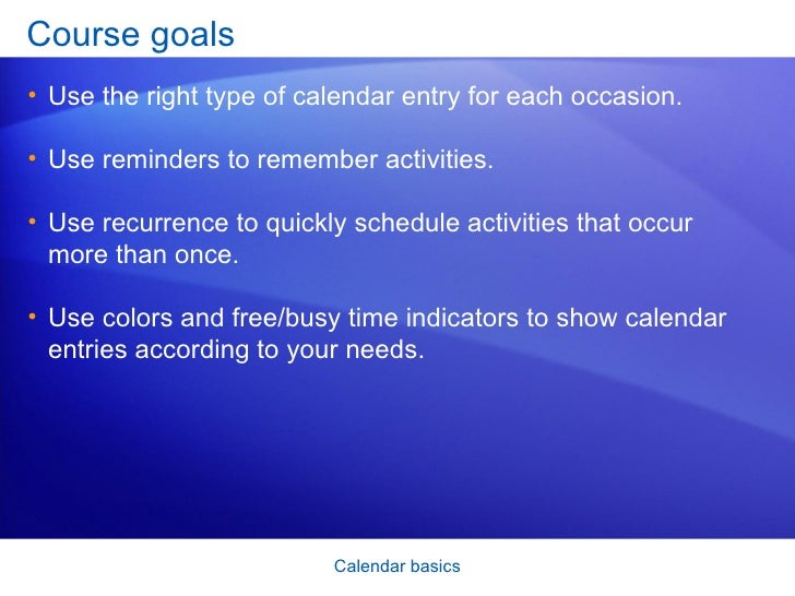 Share an Outlook calendar with other people