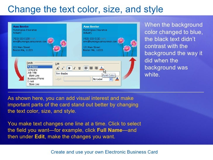 How To Make An Electronic Business Card Part - 41: SlideShare