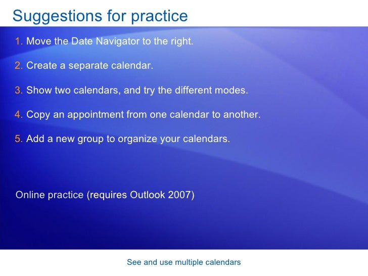 how to use outlook 2007