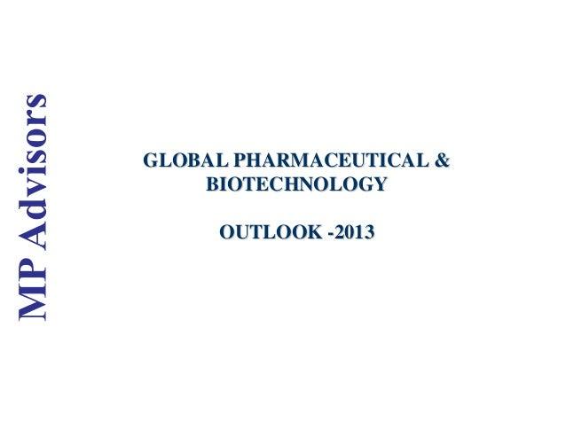 GLOBAL PHARMACEUTICAL &GLOBAL PHARMACEUTICAL & BIOTECHNOLOGYBIOTECHNOLOGY OUTLOOKOUTLOOK --20132013