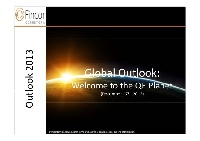 Outlook 2013     n                                                      Global Outlook:                                   ...