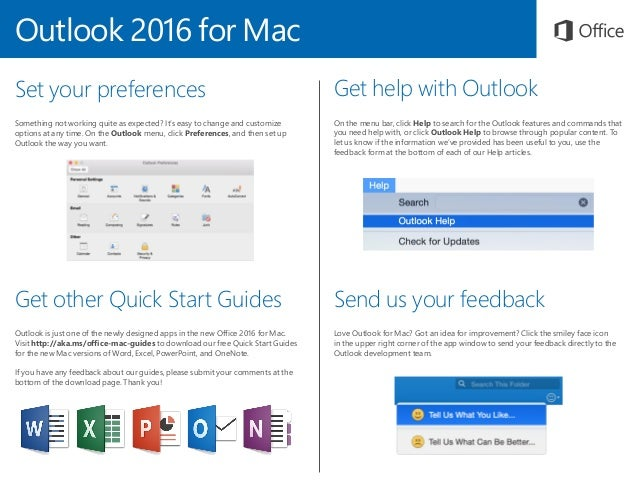 outlook 2016 for mac quick start guide rh slideshare net mac pro quick start guide excel 2016 for mac quick start guide
