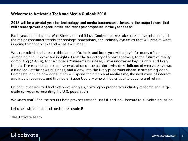 Activate Tech Media Outlook 2018 Slideshare Autos Post