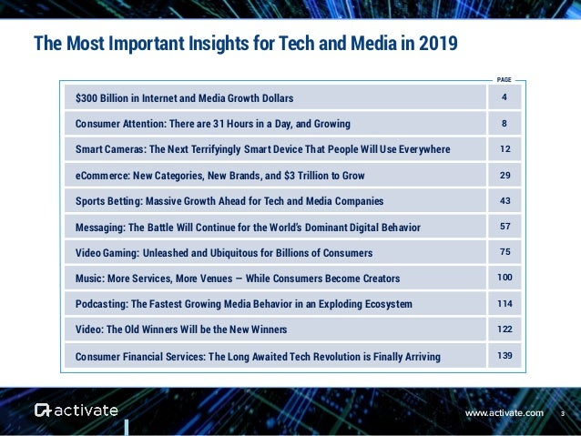 Activate Tech & Media Outlook 2019 Slide 3