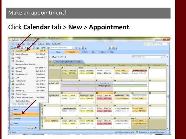 By default your calendar