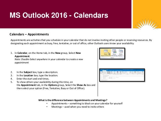 microsoft outlook 2016 calendars 2