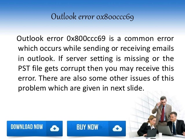 how to fix error 0x800ccc69