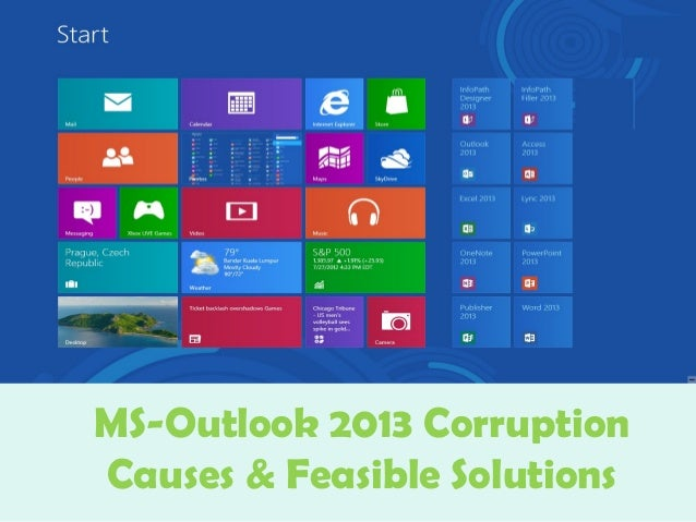 MS-Outlook 2013 Corruption Causes & Feasible Solutions