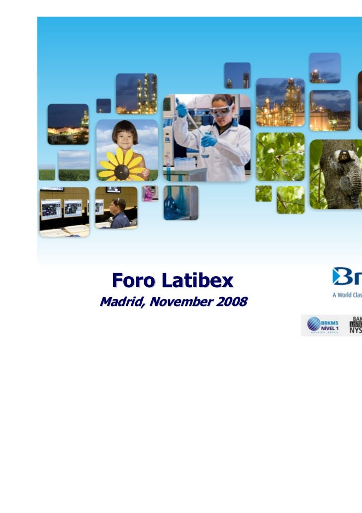 Foro LatibexMadrid, November 2008