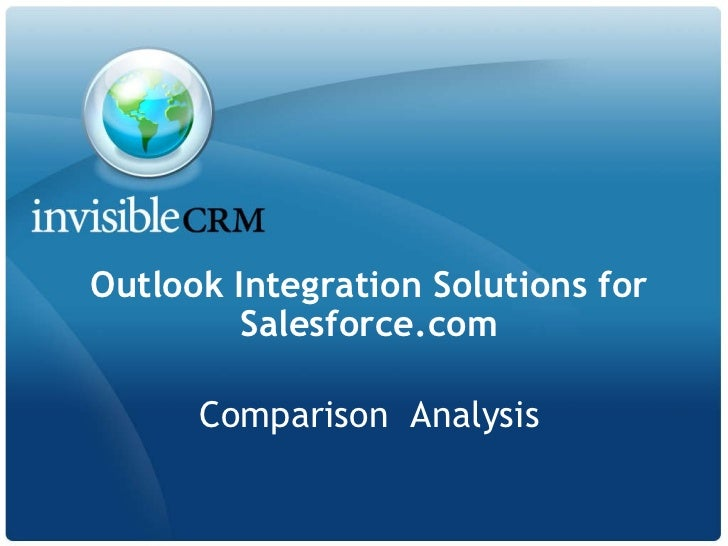 Outlook Integration Solutions for Salesforce.com Comparison  Analysis