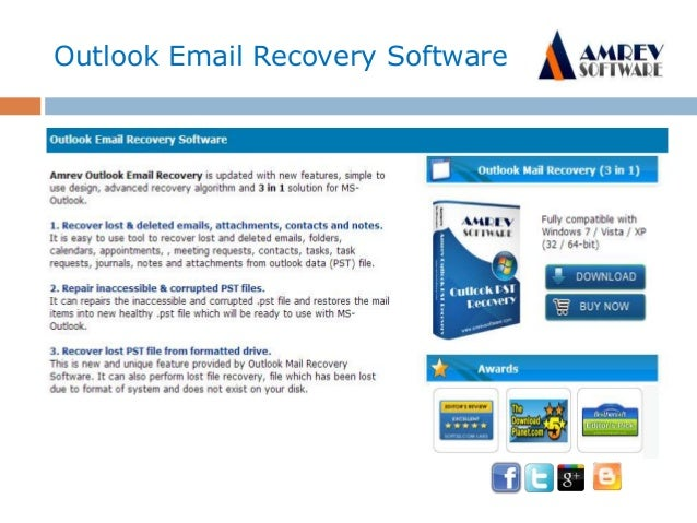Outlook Email Recover free PST repair software Slide 2