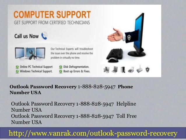Outlook Password Recovery   1-888-828-5947   Reset Phone Number Slide 2