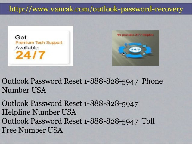 Outlook Password Recovery   1-888-828-5947   Reset Phone Number Slide 3