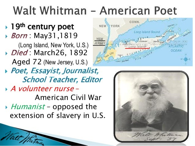 an analysis of the works of walt whitman Let us write you a custom essay sample on analysis of i sit and look out by walt whitman.