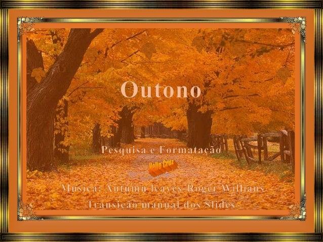 20 de março. Hoje começa o Equinócio de Outono no Hemisfério Sul. Caracterizado pelo amarelar das folhas das árvores, que ...
