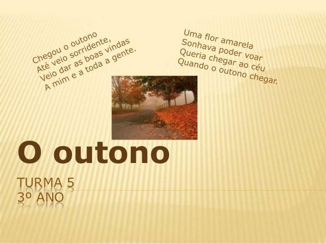 O outonoTURMA 53º ANO