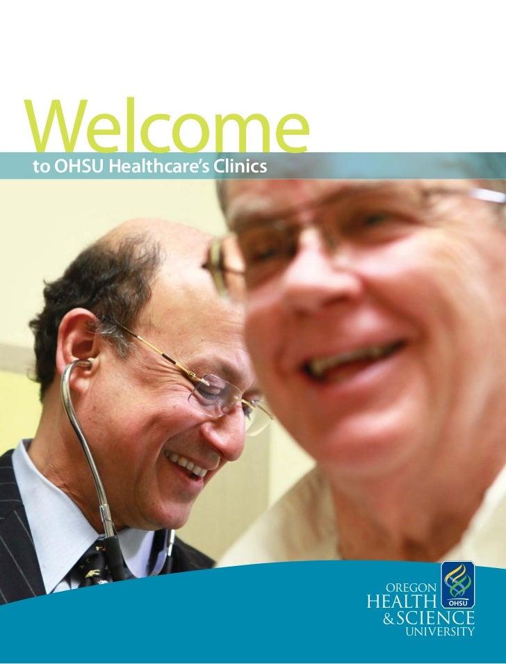 to OHSU Healthcare's Clinics
