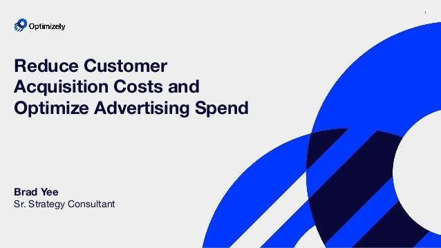 1 Brad Yee Sr. Strategy Consultant Reduce Customer Acquisition Costs and Optimize Advertising Spend