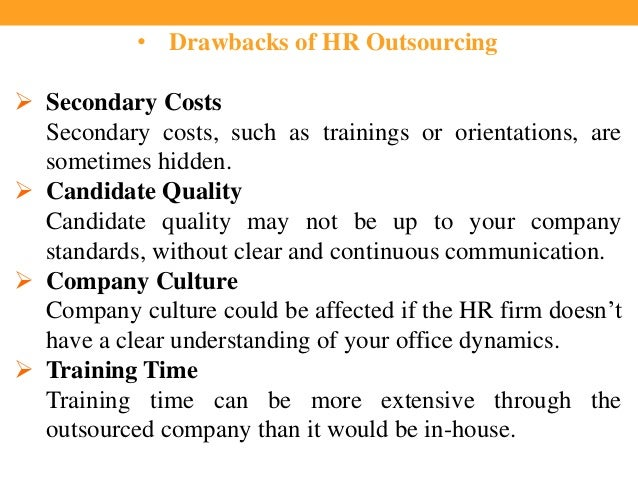 Rationale for outsourcing