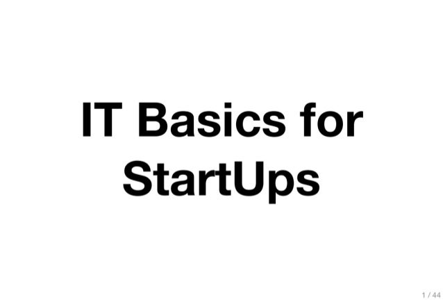 Technology and your Startup - by Burhan Khalid