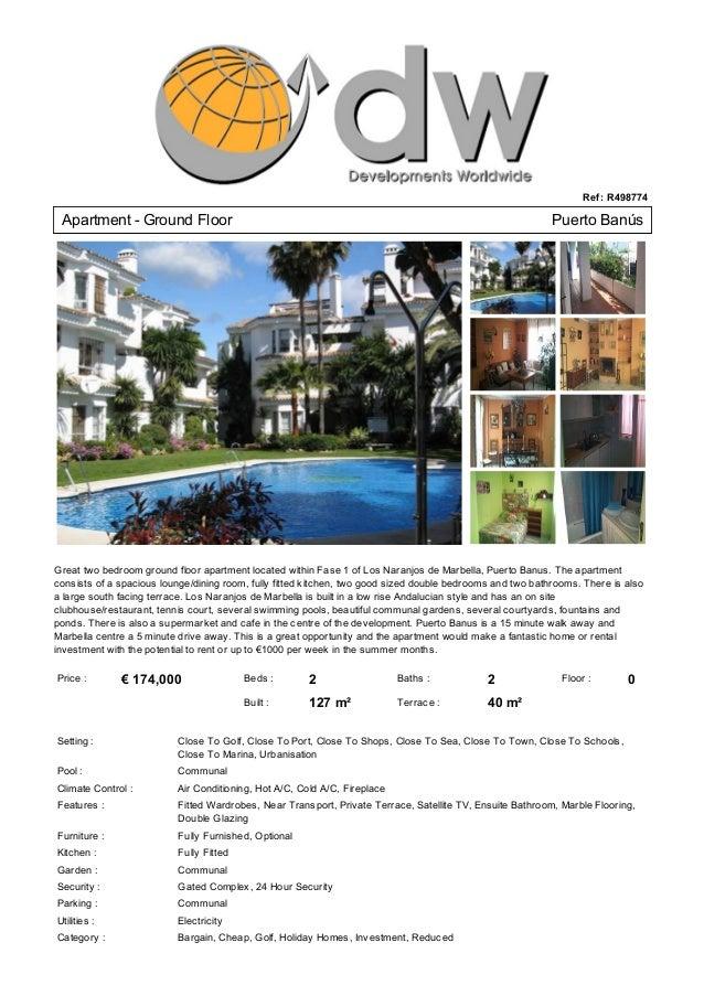 ApartmentGroundFloor PuertoBanúsRef:R498774GreattwobedroomgroundfloorapartmentlocatedwithinFase1ofLosN...